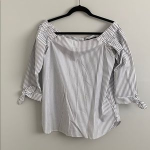Banana Republic Stripped Off The Shoulder Top